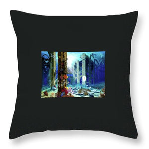 Guardians Of The Grail - Throw Pillow - visitors