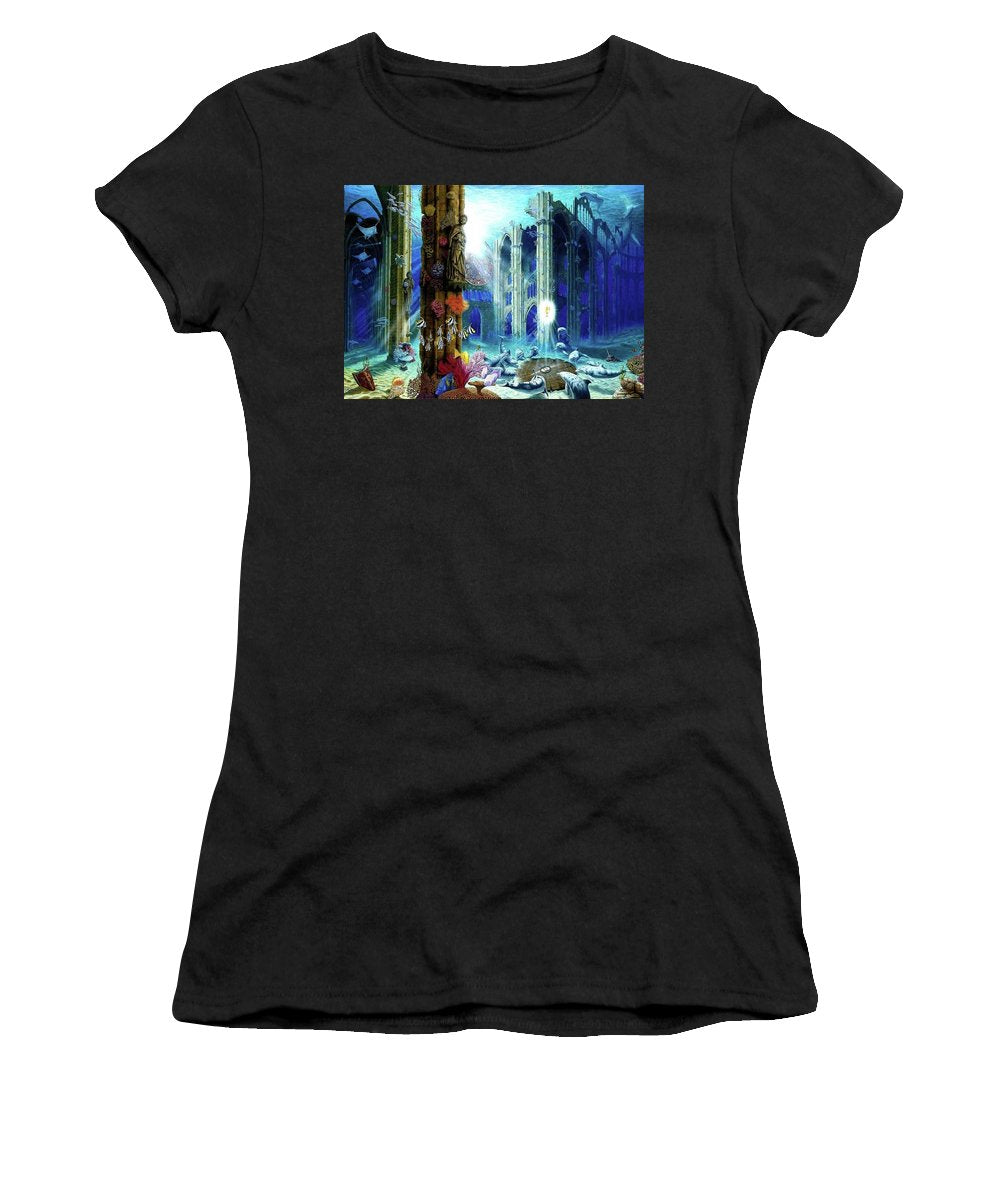Guardians Of The Grail - Women's T-Shirt (Athletic Fit) - visitors
