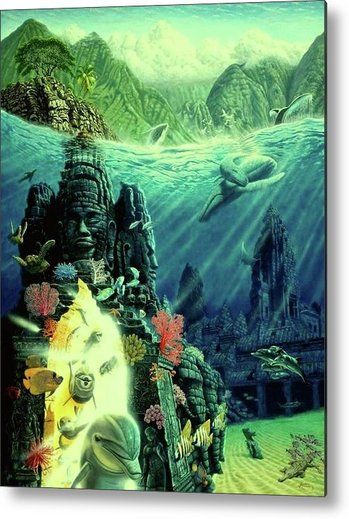 Jewel Of Amrita - Metal Print - visitors