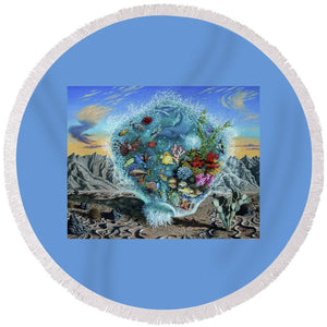 Life Force - Round Beach Towel - visitors