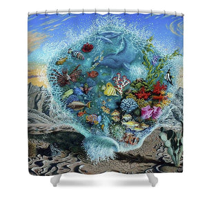Life Force - Shower Curtain - visitors