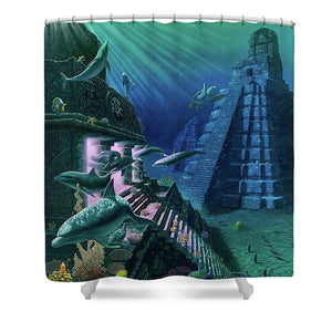 Portal Of Hunab - Shower Curtain - visitors
