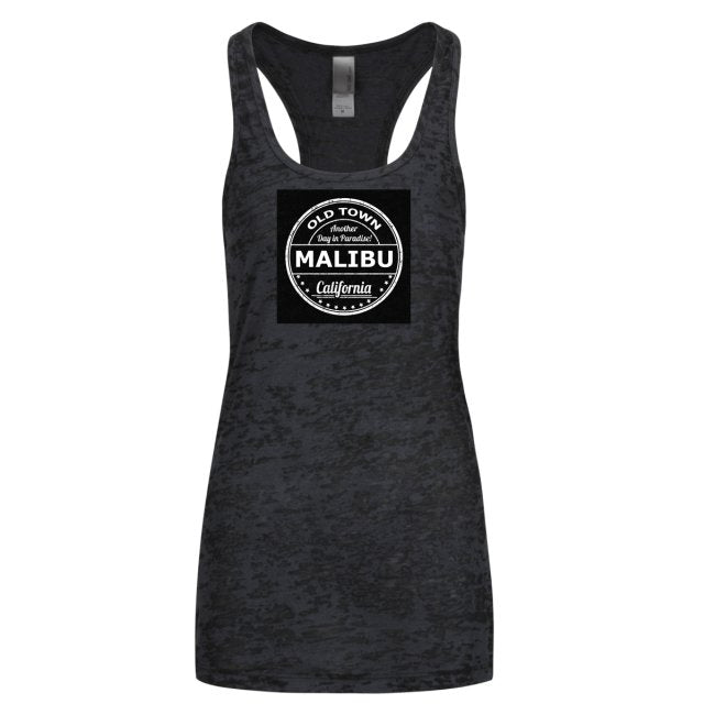 Ladies' Racerback Burnout Tank Tops - Black