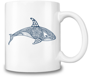 Killer Whale Coffee Mug - visitors