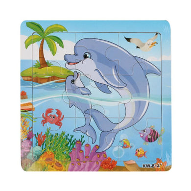 Vintage Toy, Dolphin Wooden Jigsaw Puzzle - visitors