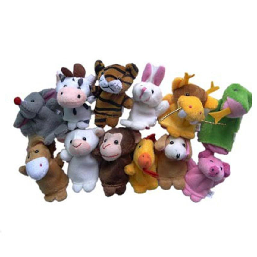 Malibu Baby, Animal Finger Puppet Plush - 12 Pieces - visitors