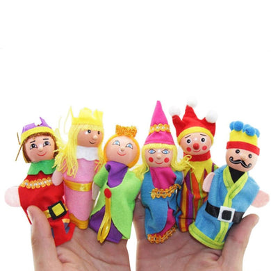 Vintage Toys, Classic Finger Puppets With Wooden Heads - visitors