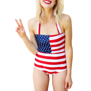 American Flag One Piece Swimsuit - visitors