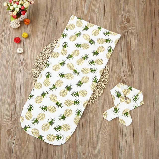 Newborn Infant Baby towel Swaddle Blanket Sleeping Swaddle Muslin Wrap Headband Set drop shipping - visitors