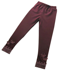 Children Girl pants Butterfly Lace Pants Leggings Elastic Child Dancing Pants Girls clothing drop ship - visitors