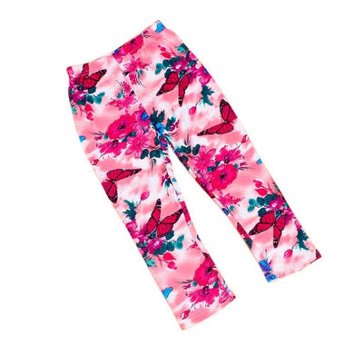 Flower Child, Butterfly Cotton Leggings - visitors