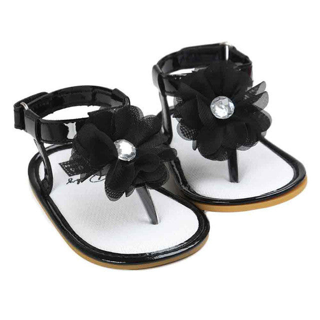 Summer New Baby Flower Pearl Sandals Children Shoes for Girls 2017 Newborn Fashion Princess Sandals Garden Shoes Girl Shoes - visitors