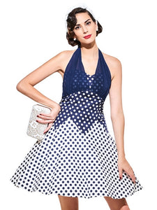 Vintage Malibu, Polka Dot Halter Dress - visitors