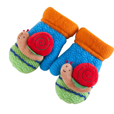 Classic Kids, Fingerless Wool Knit Fleece Lined Mittens - visitors