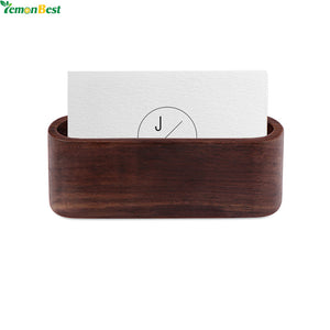 Wood Business Card Holder - visitors