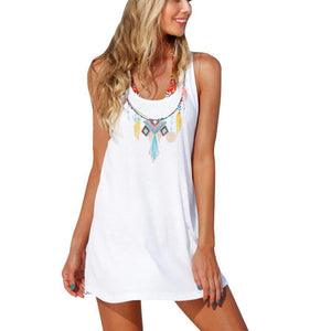 Malibu Beach, Backless Mini Dress - visitors