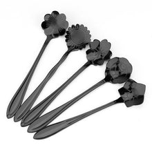 Stainless Steel Flower Coffee Spoon - visitors