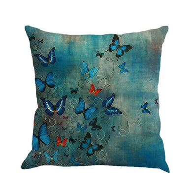 Butterfly Painting Linen Cushion Cover - visitors