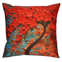 Pillow Case Sofa Flower Tree Waist Throw Cushion Cover Home Decor - visitors