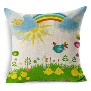 Vintage Malibu, Charming Spring Cushion Cover - visitors