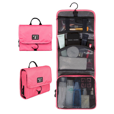 BAGSMART Waterproof Travel Toiletry Bag With Hanger Cosmetic Packing Organizer Wash Bag Makeup Bag Pack Your Luggage Suitcase - visitors