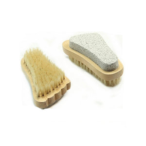 Natural Bristle Body Foot Brush Scrubber - visitors