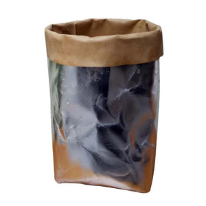 Washable Kraft Paper Bag Plant Flowers Pots Multifunction Home Storage Bag Reuse - visitors