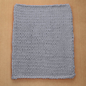 Chunky Hand Knitted Blanket - 80x100cm/31.5-39.4in - visitors
