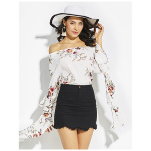 Nude Flower Halter Blouse - visitors