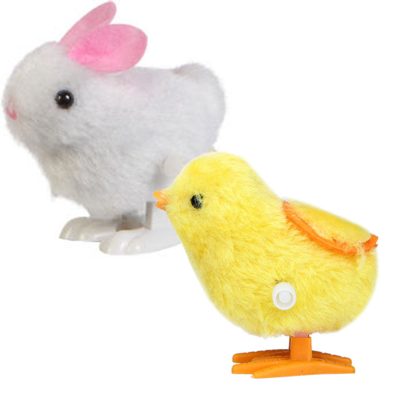 New Infant Child Toys Hopping Wind Up Easter Chick and Bunny - visitors