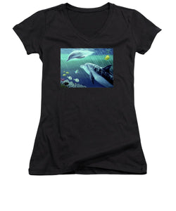 Sea Wise - Women's V-Neck (Athletic Fit) - visitors