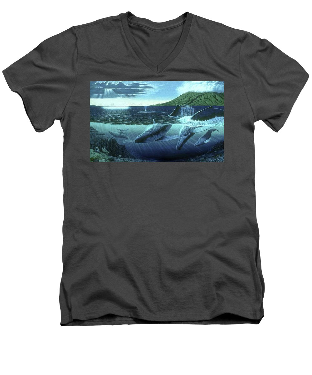 The Great Whales - Men's V-Neck T-Shirt - visitors