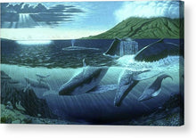 The Great Whales - Acrylic Print - visitors