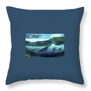 The Great Whales - Throw Pillow - visitors