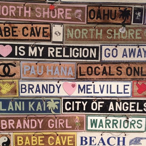 Weathered Signs - Custom Made - visitors