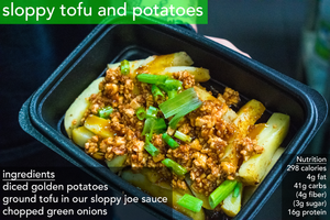 Sloppy Tofu & Potatoes