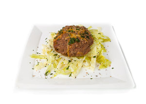 Stuffed Cheese Burger & Cabbage
