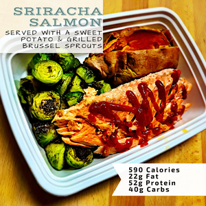 Steamed Sriracha Salmon