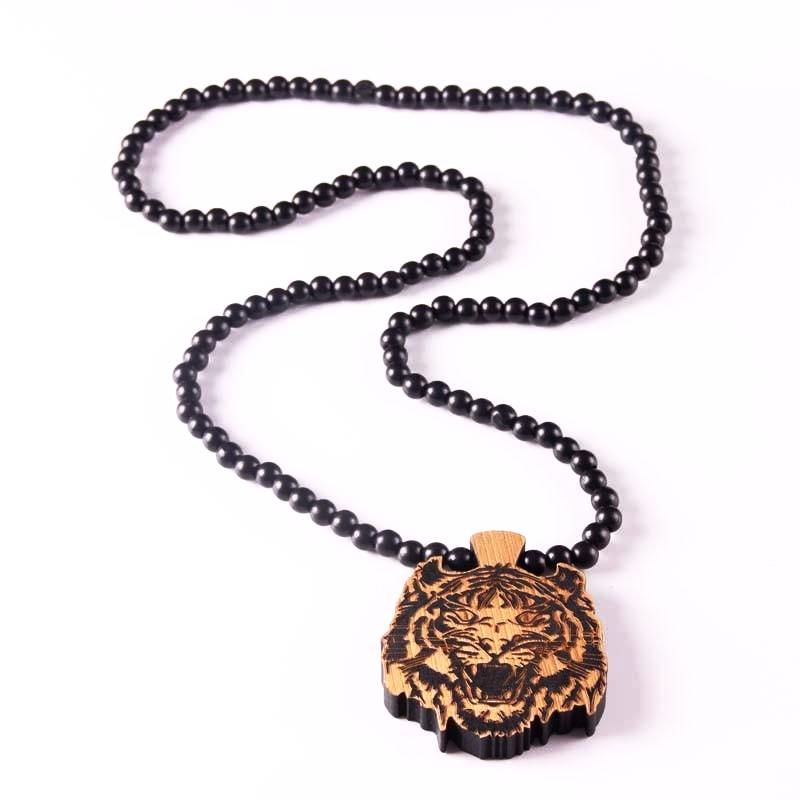 Unique and Trendy Laser Engraved Tiger Face Pendant