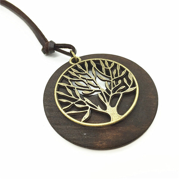 Beautiful Tree Wooden Necklace