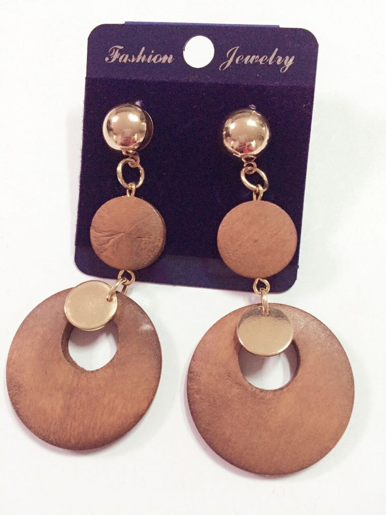 African Wood Earrings
