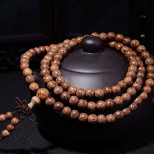 Wooden Bead Buddhist Prayer Bracelet