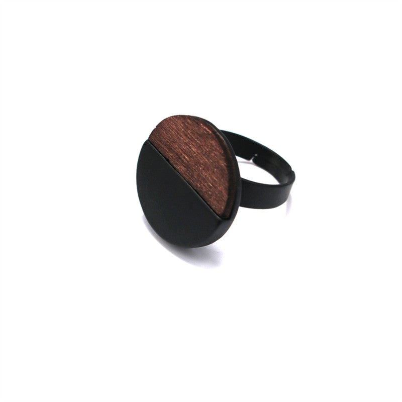 Trendy Black Wood Ring