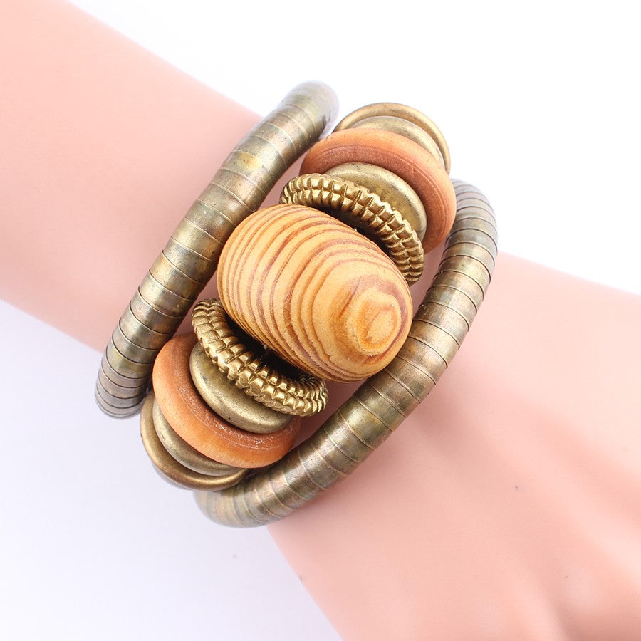 Multi-layer Chain Wooden Bead Bracelet