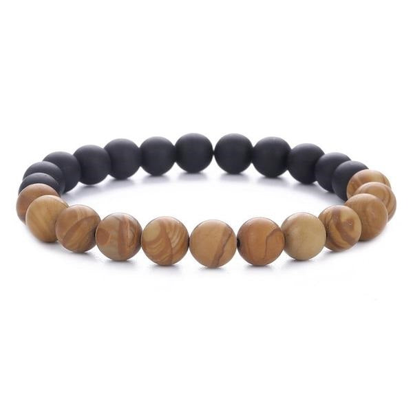 Fashionable Natural Wood Beads Bracelet