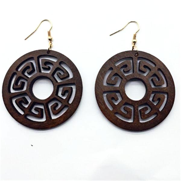 Classy African Red Wood Earrings
