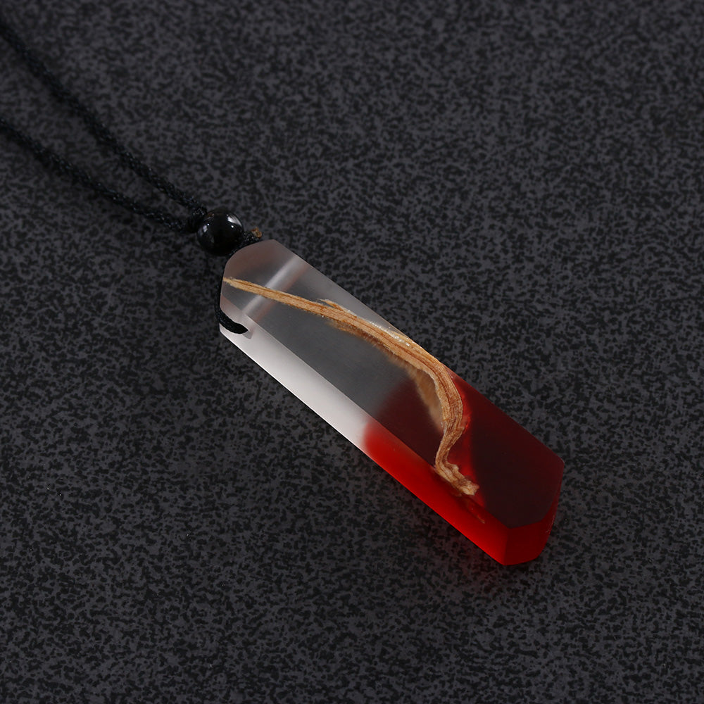Handmade Resin & Wood Pendant Necklace for Women