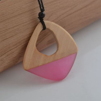 Resin Geometry Necklace