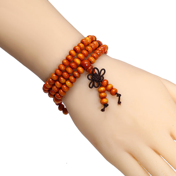 Trendy Natural Sandalwood Beads Bracelet