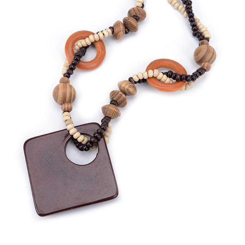Trendy Wooden Necklace